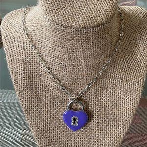 Girls Purple Heart Necklace